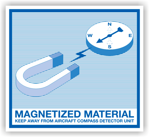"Aufkleber Magnetisches Material ""Magetized Material…"""