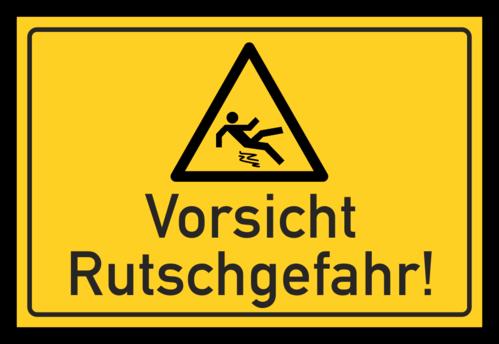 vorsicht schilder rutschgefahr