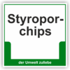 "Schild ""Styroporchips"""