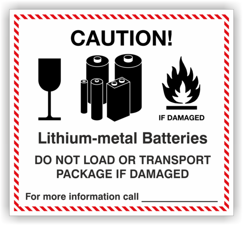Etikett Lithium-metal  Batteries, indiv.