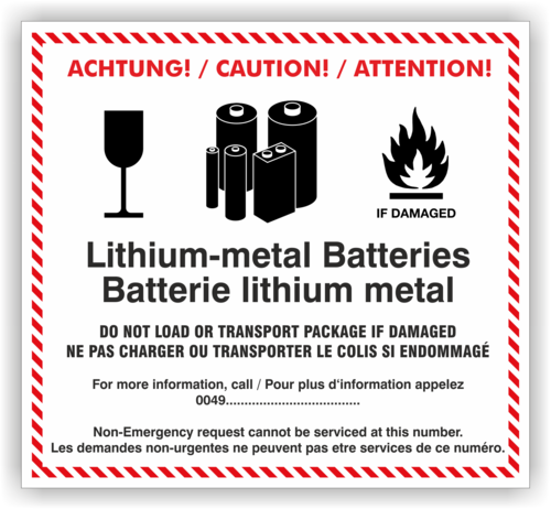 Etikett Lithium-metal Batteries individuell