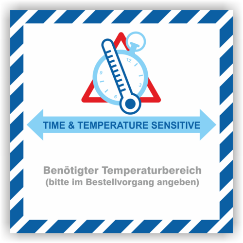 "Aufkleber ""Time & Temperature Sensitive"""