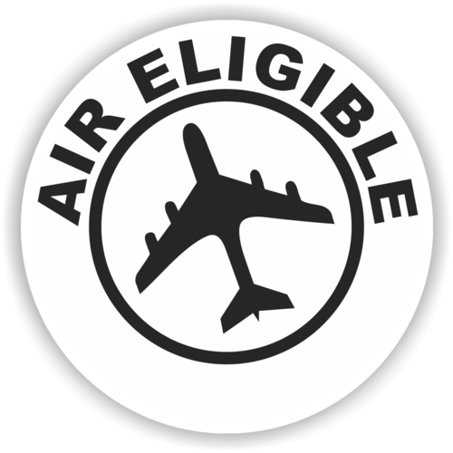 "Versandaufkleber ""Air Eligible"", 75 mm"